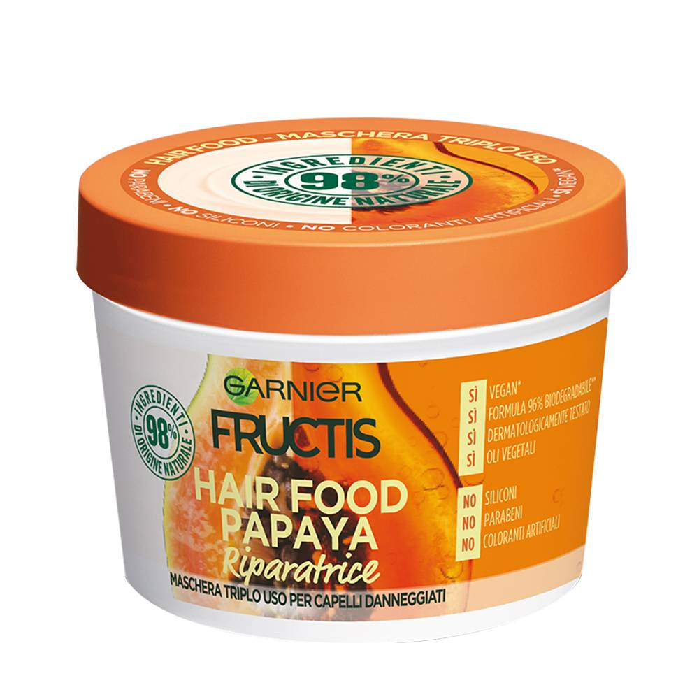 maschera fructis hair food papaya